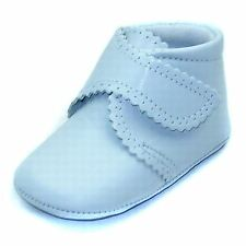 Baby Cuquito Party Pram Bootees Navy Leather 2-5 M