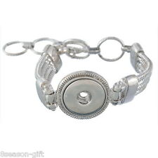Gift Wholesale Snap Bracelet Fit Snap Buttons Circular Pendant Beads Setting
