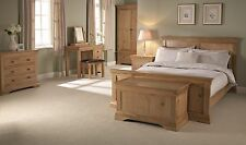 Contemporary Worthing Solid American White Oak Bedroom Furniture Set