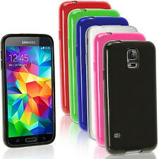 Glossy TPU Gel Skin Case Cover for Samsung Galaxy S5 MINI SM-G800 + Screen Prot