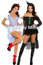 Couples Halloween Costume Set S M L XL Women Sexy Wizard Of Oz Dorothy Witch