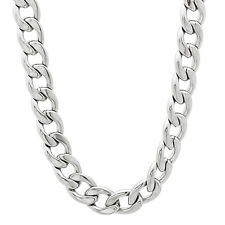 Stainless Steel Men Women Round Cuban Link Curb Chain Necklace 7mm Wide