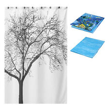Shower Curtain Waterproof Bathroom Fabric Curtain HY