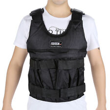 New 50kg Workout Weight Weighted Vest Jacket Exercise Fitness Training Waistcoat