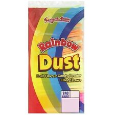 Rainbow Dust Candy Straws Swizzels Matlow Retro Sweets Bulk Buy (10, 30 or 240)