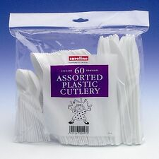 White Plastic FORKS Strong Disposable Cutlery Caroline Packaging Packs 50 / 100