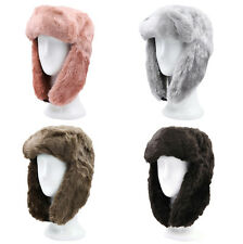 Super Warm Winter Solid Color Faux Fur Trapper Ski Snowboard Hunter Hat