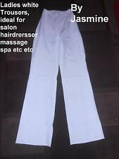 LADIES WHITE TROUSERS Salon Beautician hairdresser Spa healthcare SIZE 8,10,12