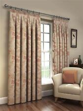 LINED Natural Tapestry HEAVY Floral Jacquard Curtains