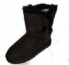 UGG AUSTRALIA KIDS Bailey Button Boots chocolate 5991  sizes 13 to 4
