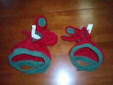 Infant/Toddler Boy's Red & Green Fleece Hat and Mittens  Sizes XS and L  NWT!!