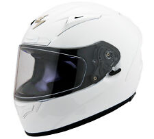 Scorpion White EXO-R2000 Solid Motorcycle Helmet Snell DOT Race