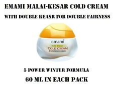NEW EMAMI MALAI-KESAR COLD CREAM WITH DOUBLE KESAR FOR DOUBLE FAIRNESS - (60 ML)