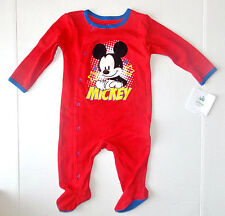 Disney Baby Mickey Mouse Infant Boys Sleeper Size 3-6 Months NWT