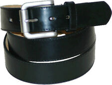 Men's Black Leather Belt  1 1/2 Inch Wide Roller Buckle Free Shipping Small-3XL