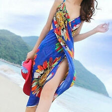 Women Summer Sexy Deep V Chiffon Backless Cover-up Beachwear Playsuit Dress