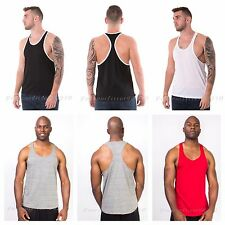 Men Bodybuilding Tank Top Muscle T-Shirt Racerback Sleeveless Tee Sports Gym