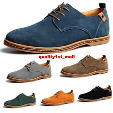 Classical Fashion Lace Up Suede Leather Shoes Men's Oxfords Casual Flats