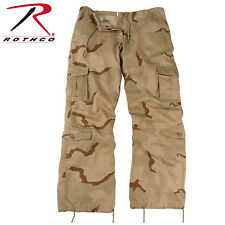 3786 Rothco Womens Camo Vintage Paratrooper Fatigue Pants - Tri-Color Desert