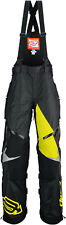 Arctiva Mens Black/Yellow Comp RR Shell Uninsulated Snowmobile Bibs/Pants