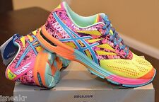 ASICS GEL-NOOSA TRI 10 FLASH YELLOW/TURQUOISE/PINK WOMEN'S RUNNING SHOES T450N