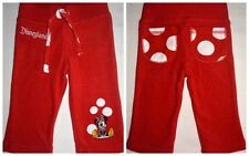 Disneyland Infant Girls Minnie Mouse Applique Solid / Polka Dot Terry Pants, 3M