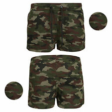New Womens Ladies Army Military Camouflage Sexy Shorts Hot Pants Shorts 8-14