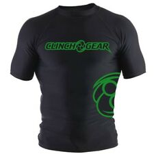 Clinch Gear Icon Short Sleeve Rashguard (Black/Green)