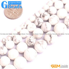 Natural White Howlite Turquoise Faceted Round Beads Free Shipping 6mm 8mm 10mm