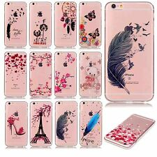 Ultra slim Transparent mobile phone case patterned protective skin soft TPU
