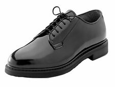 Military Uniform Oxford Shoes - High Gloss - Black