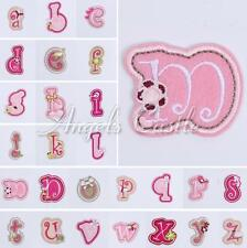 1PC Flower Letter Number Embroidered Applique Iron On Sew Patch Kids Accessory