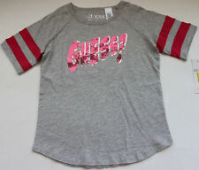 Guess Jeans Tee Shirt Top Girl's 14 L Gray Pink Sequins Dillards FREE Ship NWT