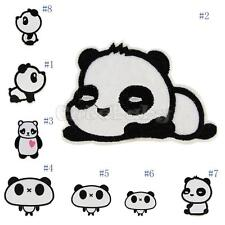 Cute Panda Cartoon Embroidered Cloth Applique Iron On Sew Patch DIY Accessories