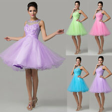 Short Tulle Cocktail Prom Gown Formal Evening Party Bridesmaid Dress Homecoming