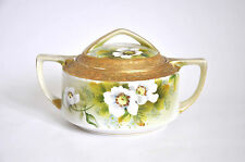 Vintage Japanese Nippon Porcelain Hand Painted Sugar Bowl with Lid
