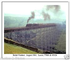 """BELAH VIADUCT, CUMBRIA. 1961 LARGE 10"""" x 8""""  PHOTO WITH BORDER READY TO FRAME"""