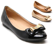 Fashion Womens Bow Ballerina Ballet Dolly Ladies Pumps Slip On Flat Shoes Loafer