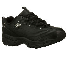76432 EW Wide Width Black DLite Skechers Shoes Women Work Leather Slip Resistant