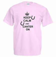 Keep Calm and Canter On Kids T-Shirt Horse Riding TShirt Horseriding Equestrian