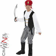 Childs Pirate Boy Fancy Dress Costume Deluxe Caribbean Book Week Jolly Roger New