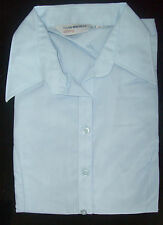 Ladies SKY BLUE Office/casual shirt/blouse short sleeve, Size 14, 16, 20, JC996