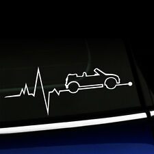 MINI Convertible is in my Blood - Heartbeat MINI Cooper Decal -YOUR COLOR CHOICE