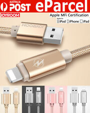 MFI Certificate Braided Lightning Sync USB Cable Charger For iPhone 6S IOS9 iPad