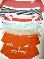 A126SH Gilly Hicks by Abercrombie NEW Soft Stretch Cotton Short Blue Oat Orange
