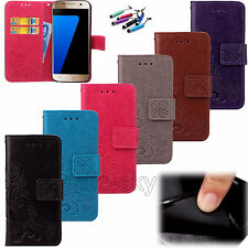 Protective Flip Magnetic Stand Leather Card Hoder Wallet Case Cover For Samsung