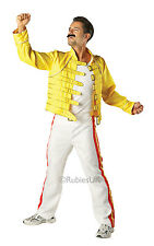 Adult Licensed Freddie Mercury Queen Wembley '86 Fancy Dress Costume Mens
