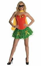 Adult Sexy Superhero Robin Corset Ladies Fancy Dress Hen Party Costume Outfit
