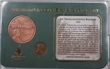 1969 Abraham Lincoln Transcontinental Penny Coin Centennial Set with Medal