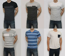 NEW Abercrombie & Fitch Mens Colorblock Pocket T Shirt Crew Neck V Neck Stripe